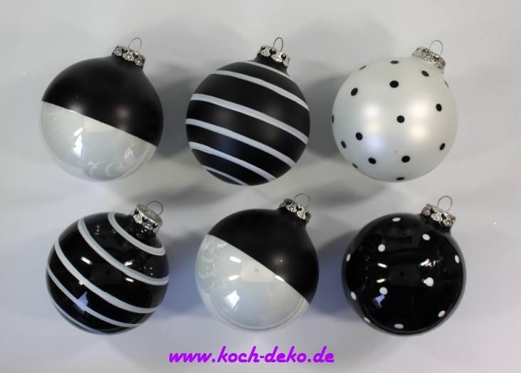Schwarz Weiße Christbaumkugeln.Christbaumkugeln Schwarz Weiß Italiaansinschoonhoven