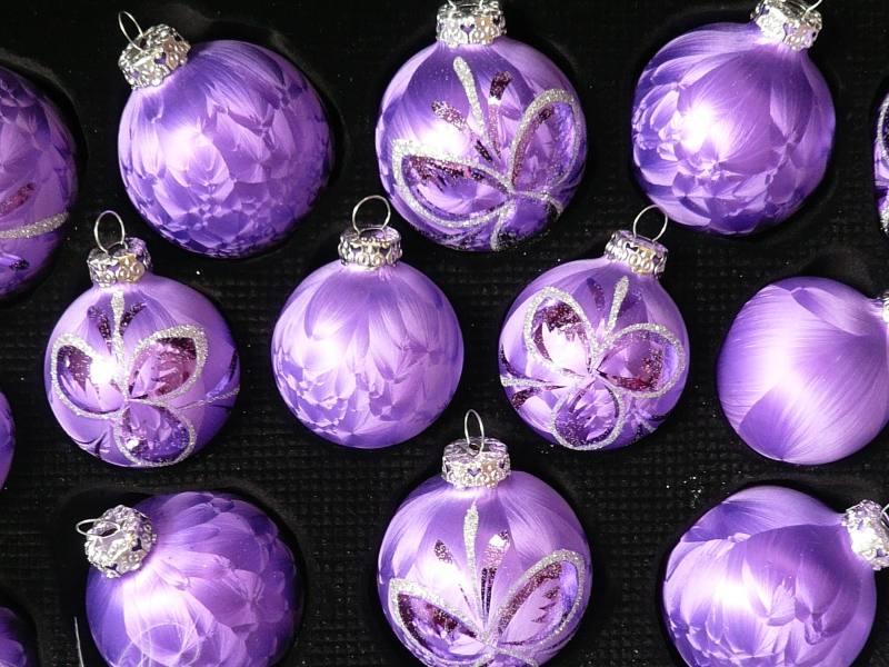 Christbaumkugeln Violett.Christbaumkugeln Lila Glas