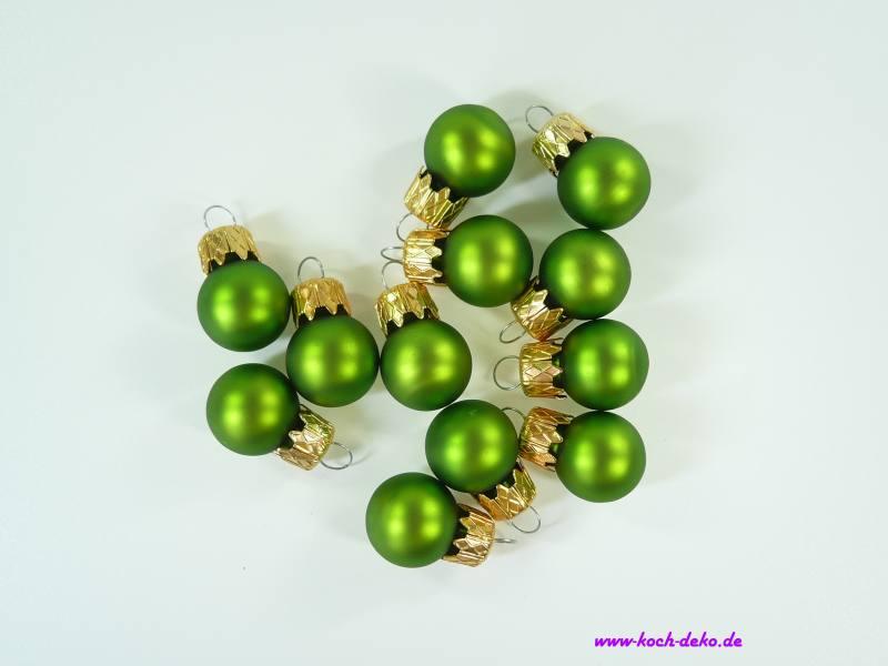 Christbaumkugeln Mini.Weihnachtskugeln Mini Christbaumkugeln 20mm Apfelgrun Matt
