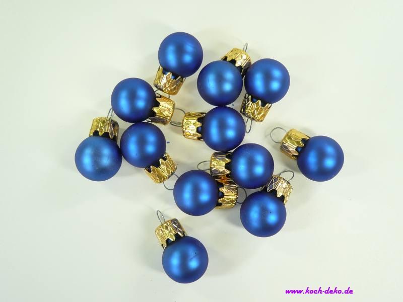 Mini Christbaumkugeln.Weihnachtskugeln Mini Christbaumkugeln 20mm Konigsblau Matt
