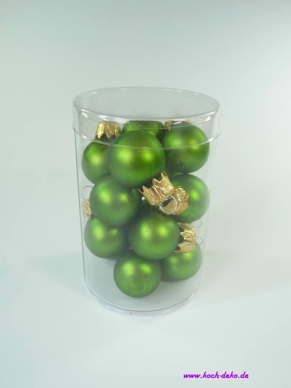 Mini Christbaumkugeln.Weihnachtskugeln Mini Christbaumkugeln 25mm Apfelgrun Matt