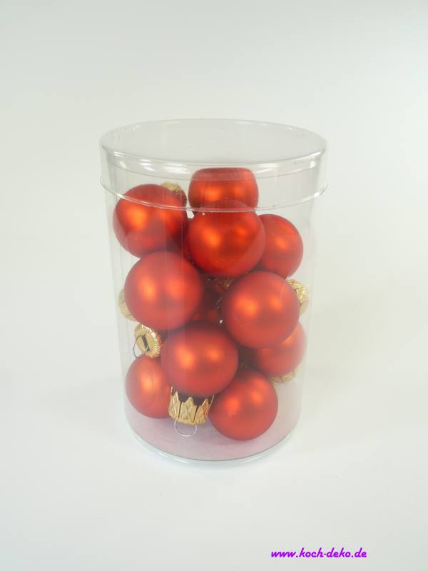 Mini Weihnachtskugeln.Weihnachtskugeln Mini Christbaumkugeln 25mm Orange Matt