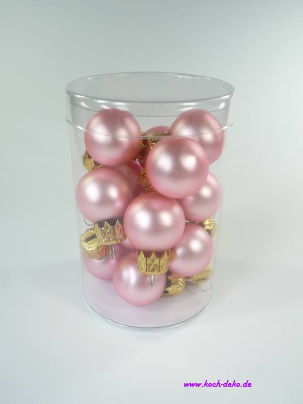 Christbaumkugeln Rosa.Weihnachtskugeln Mini Christbaumkugeln 25mm Rosa Matt
