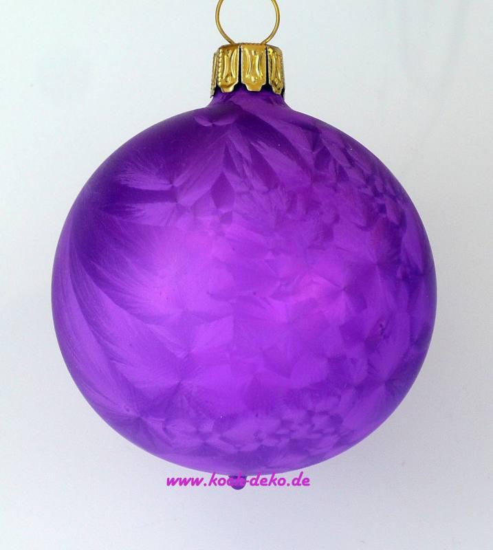 Christbaumkugeln Violett.Mundgeblasene Christbaumkugeln Eislack Lila 10cm 1 Karton Mit 4 Kugeln