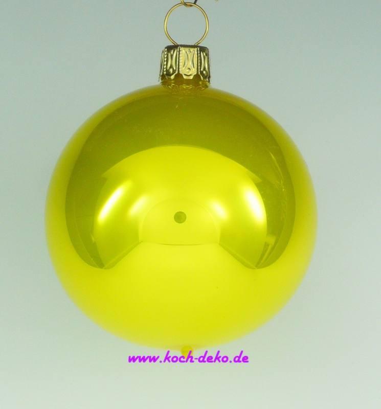 Christbaumkugeln Gelb.Mundgeblasene Christbaumkugeln Gelb Opal 10cm 1 Karton Mit 4 Kugeln