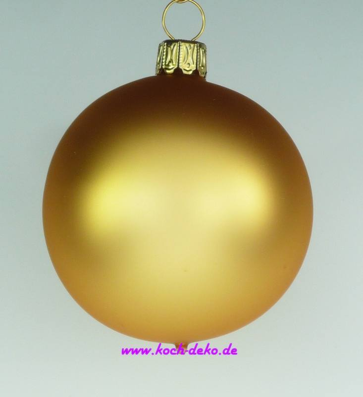 mundgeblasene christbaumkugeln gold matt 10cm 1 karton mit 4 kugeln. Black Bedroom Furniture Sets. Home Design Ideas