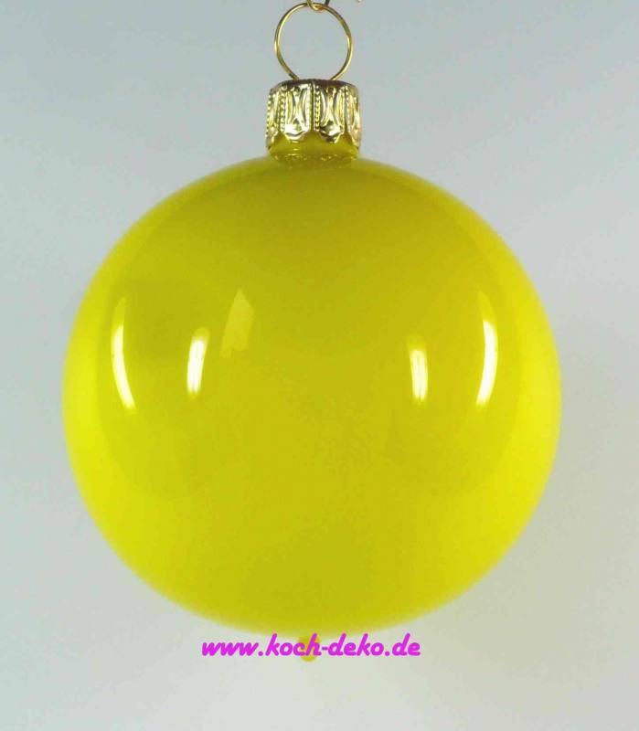 Christbaumkugeln Gelb.Mundgeblasene Christbaumkugeln Neon Gelb Opal 10cm 1 K A 4 Kugeln