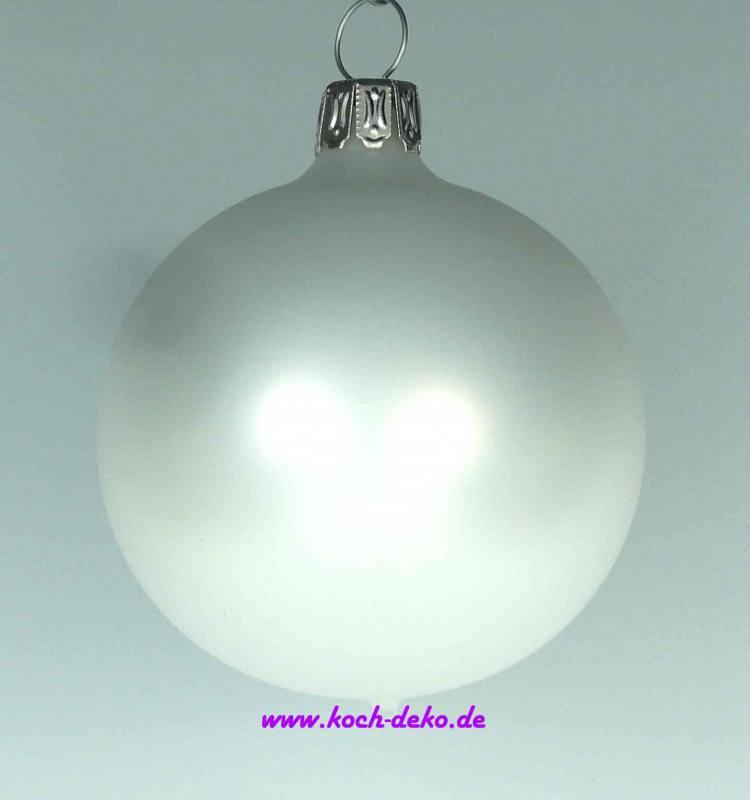 Christbaumkugeln Weiß 8cm.Mundgeblasene Christbaumkugeln Porzellan Weiß 8cm 1 K A 6 Kugeln
