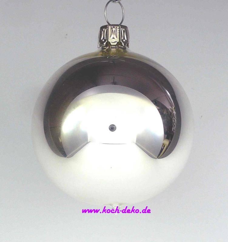 Christbaumkugeln Silber Matt.Mundgeblasene Christbaumkugeln Silber Glanz 10cm 1 K A 4 Kugeln