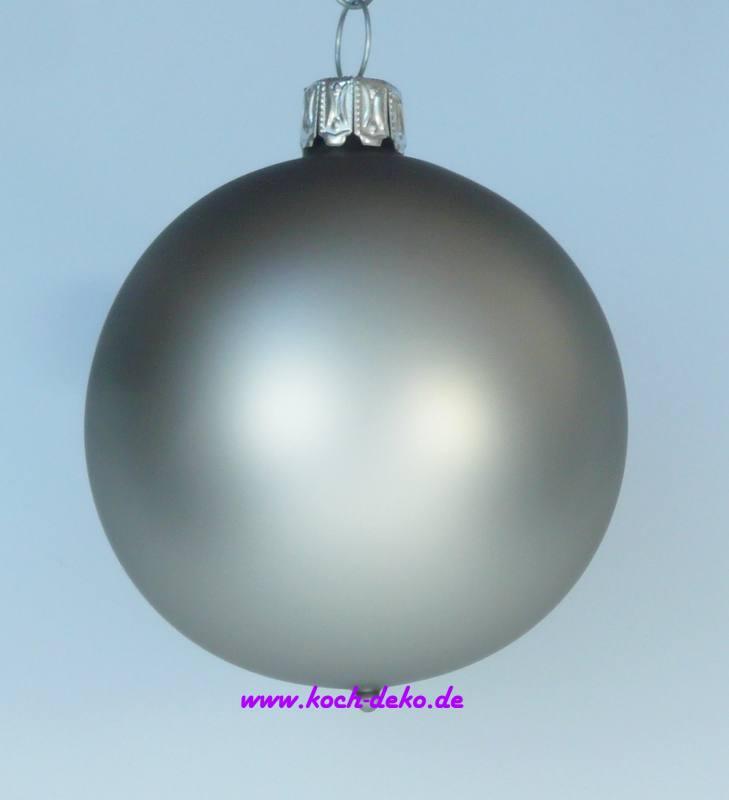 Christbaumkugeln Silber Matt.Mundgeblasene Christbaumkugeln Silber Matt 4cm 1 K A 12 Kugeln