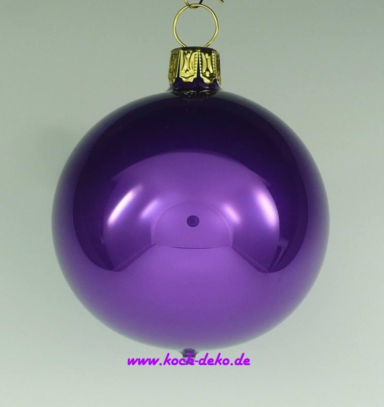 Christbaumkugeln Violett.Mundgeblasene Christbaumkugeln Violett Opal 10cm 1 Karton Mit 4 Kugeln