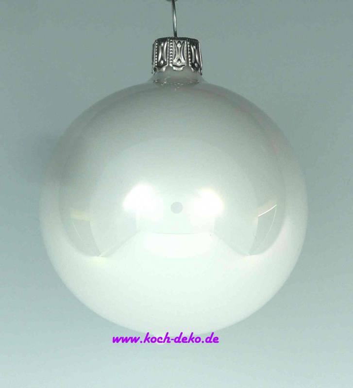Weihnachtskugeln Weiß Silber.Mundgeblasene Christbaumkugeln Weiß Opal 10cm 1 K A 4 Kugeln
