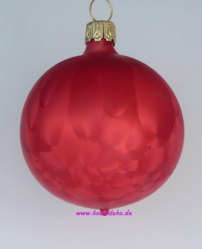 Christbaumkugeln Eislack Rot.Mundgeblasene Christbaumkugeln Eislack Rot 8cm 1 Karton Mit 6 Kugeln