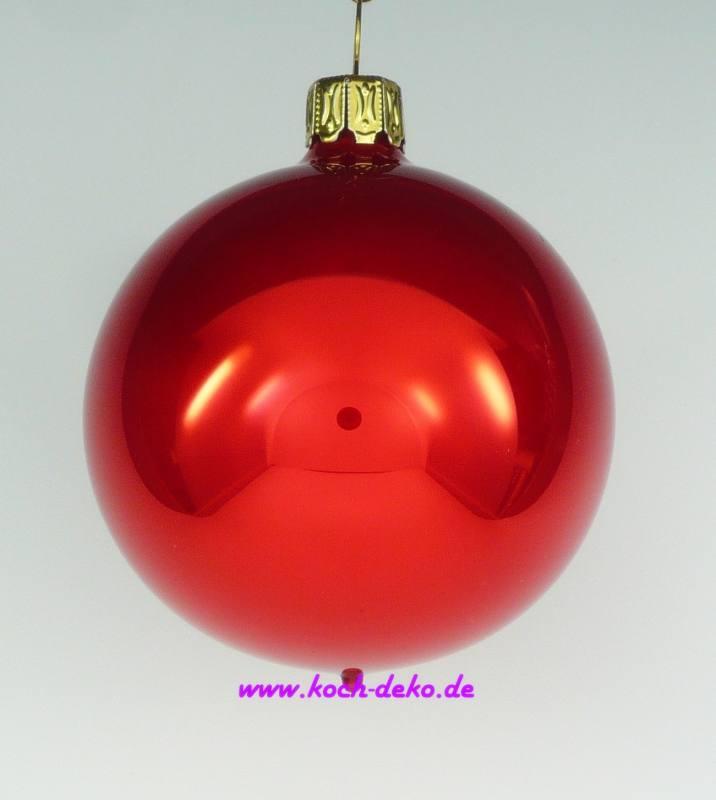 mundgeblasene christbaumkugeln rot opal 8cm 1 karton mit 6 kugeln. Black Bedroom Furniture Sets. Home Design Ideas
