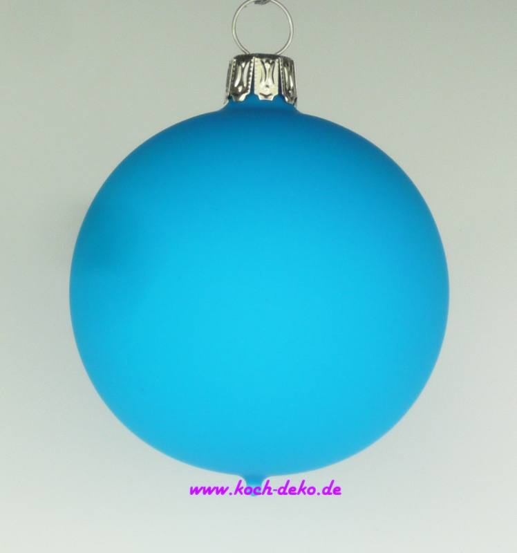 Christbaumkugeln in blau